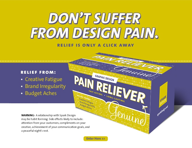 Spark Design Pain Relief Promotional Web Ad